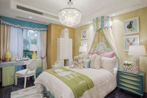 港式新古典儿童房卧室装修设计