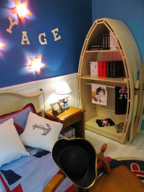 田园风格儿童房卧室效果图