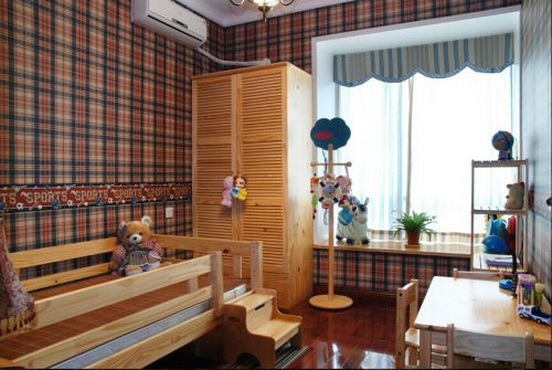 135平米温馨田园风格三居室儿童房装修设计