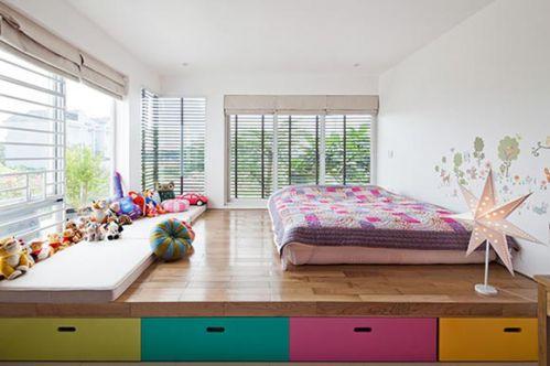 田园风公寓儿童房效果图