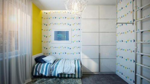 83平米时尚简约风格儿童房吊顶设计