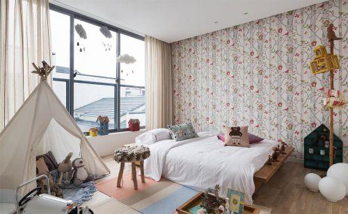 混搭设计儿童房卧室图片