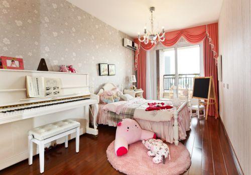 混搭风格儿童房卧室背景墙设计