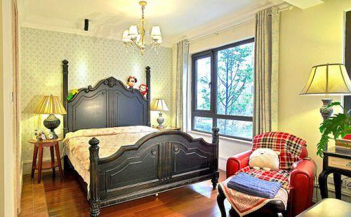 137平美式三居混搭儿童房装修案例
