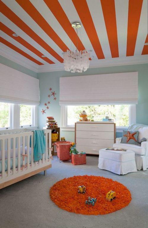 93平米时尚混搭风格儿童房吊顶设计