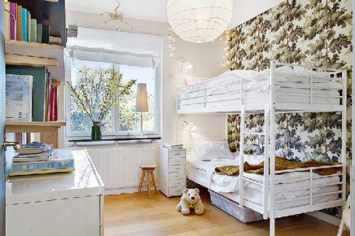 混搭69平公寓儿童房背景墙图片