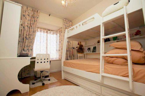 地中海风格儿童房双人床设计