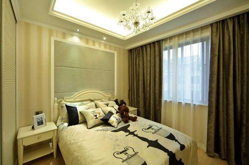 浅色调的儿童房卧室效果图