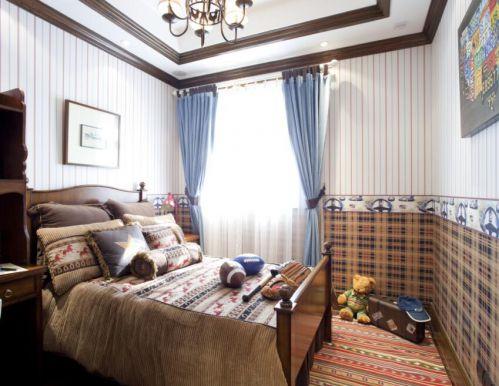 98平复古美式风格儿童房装修设计