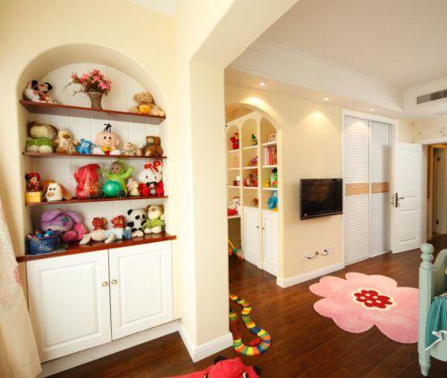 89平现代美式风格儿童房玩具摆放