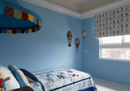 美式乡村儿童房背景墙装修风格