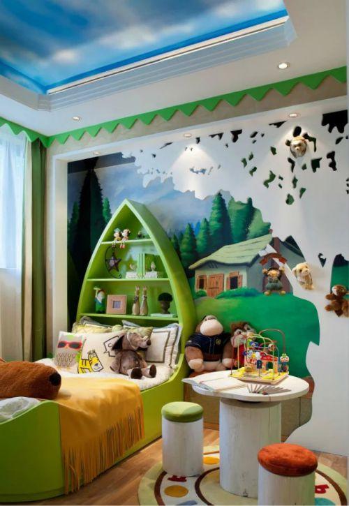 美式风格儿童房装修图