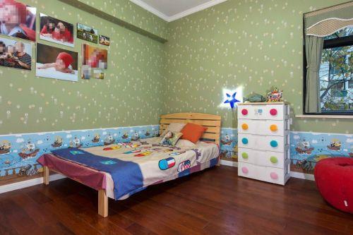 美式风格儿童房背景墙效果图