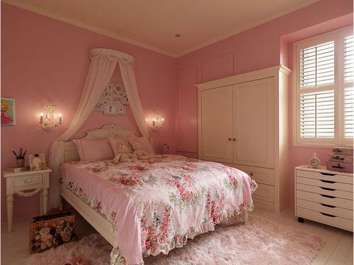 美式家居粉色儿童房效果图欣赏