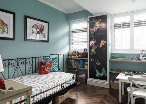 72平米美式风格儿童房背景墙设计