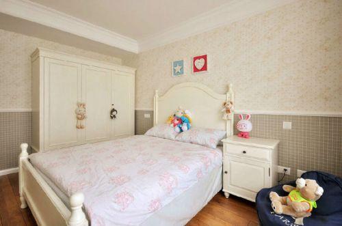 100平米舒适美式风格儿童房背景墙设计图