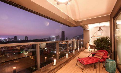 131平美式古典风格家装设计阳台效果图