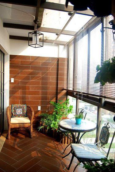 美式乡村家居阳台设计装潢
