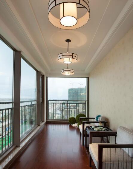 109平混搭风格家装阳台设计图片