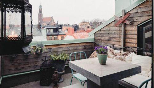 混搭阁楼小屋阳台装修设计