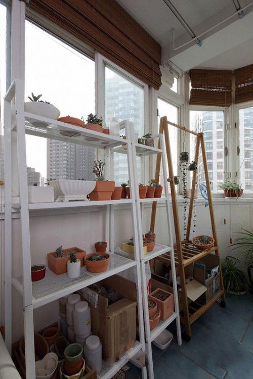 58平一居室阳台花园设计