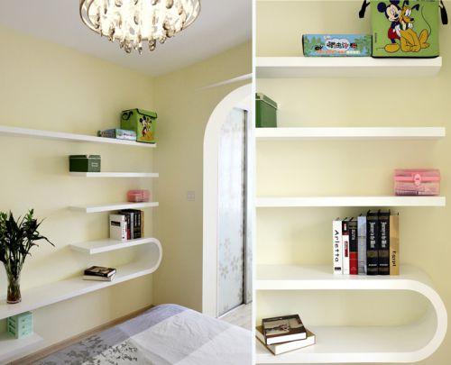 清新田园风格书房书柜设计