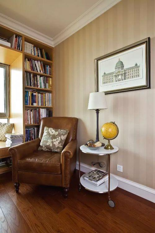 欧式简约书房照片墙装修效果图