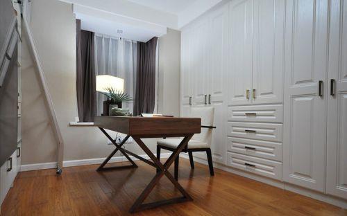 118平米现代中式风格书房书桌设计