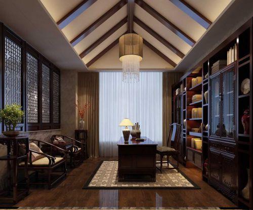古典中式书房装修设计