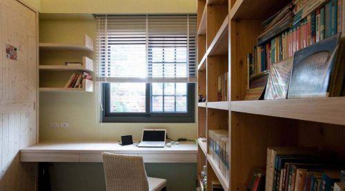 美式乡村四居书房收纳柜装修设计