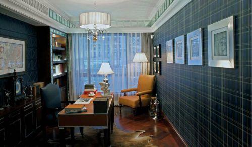 美式书房背景墙装修风格欣赏