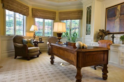 美式风格书房书桌台灯设计大全