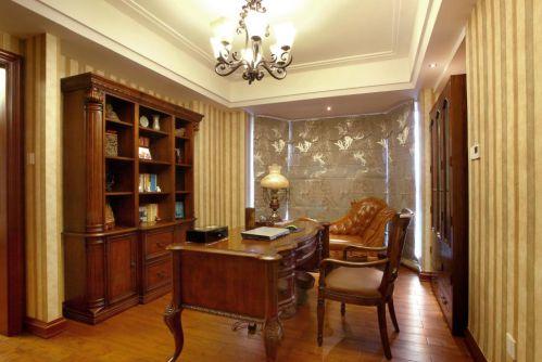 最新三居室欧式风格书房装修效果图
