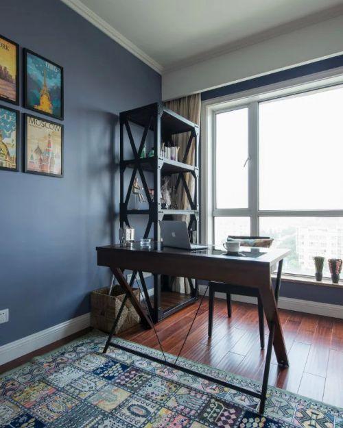 美式风格书房照片墙效果图