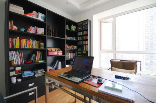 93平欧式简约风格书房装修设计