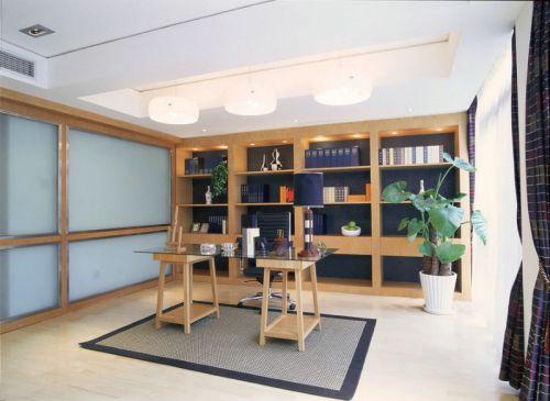 时尚美式风格别墅书房书柜效果图