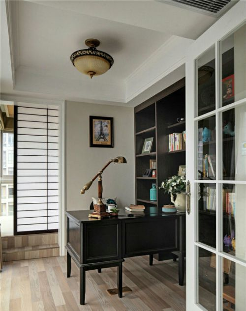 140平米时尚美式风格三居室书房书桌效果图