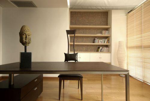 舒适美式风格三居室书房装修效果图