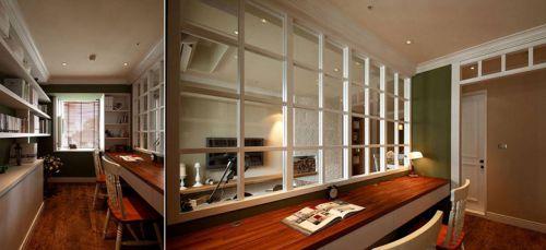 69平米美式乡村风格书房书柜装修设计