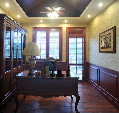 483平米美式别墅古典书房