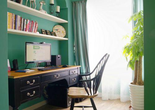 122平清新田园风格家装设计书房图片