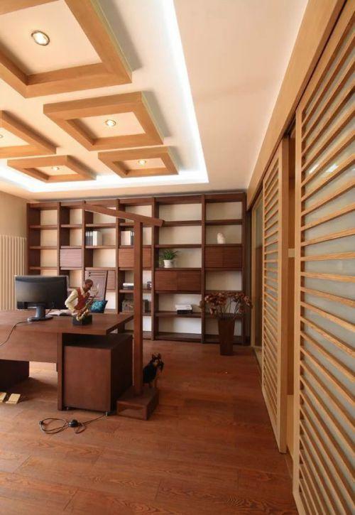 东南亚书房吊顶装修图片