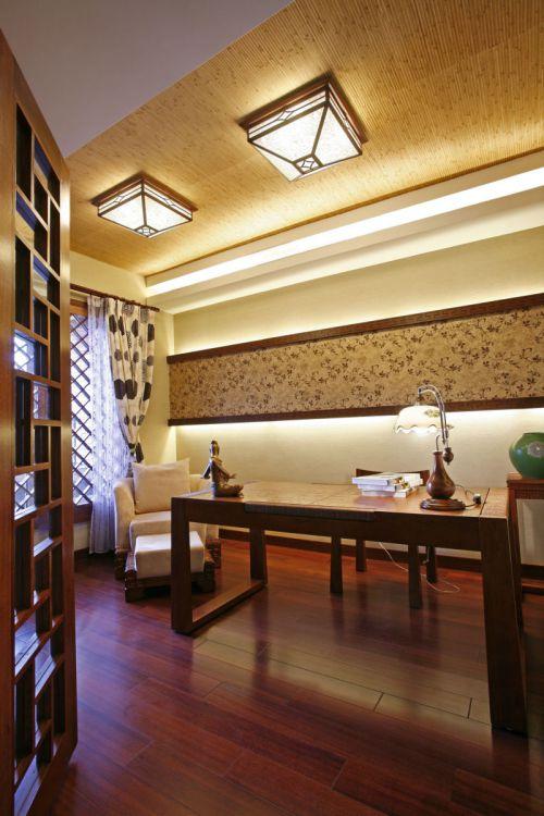 东南亚风格书房吊顶图片
