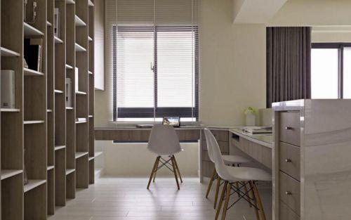 日式现代两居室设计书房效果图
