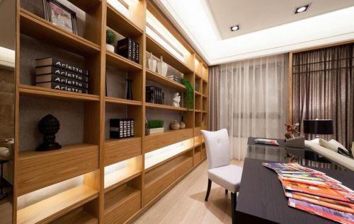 日式风格现代两居室书房效果图