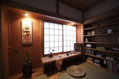 原木日式家居书房效果图片