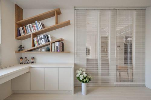 日式风格公寓书房效果图欣赏
