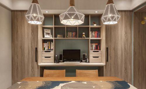 北欧风格书房书桌效果图