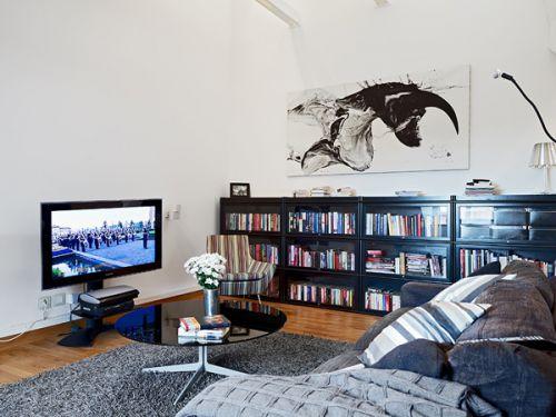 北欧风格精美阁楼书房效果图片