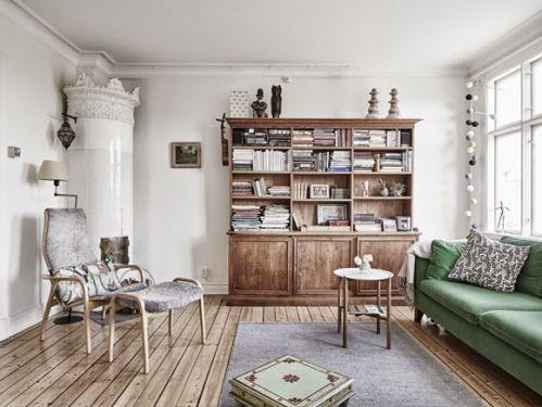 迷人北欧复式公寓书房书柜效果图